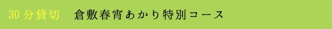 倉敷春宵あかり特別コース