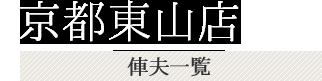 京都東山店 俥夫一覧