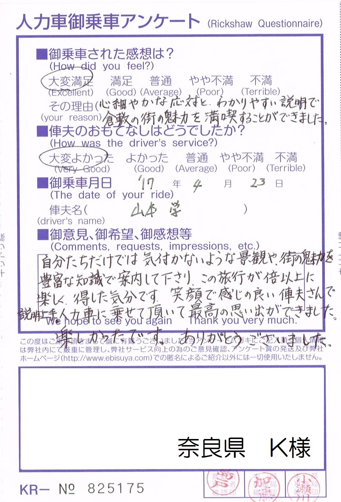 奈良県 K様