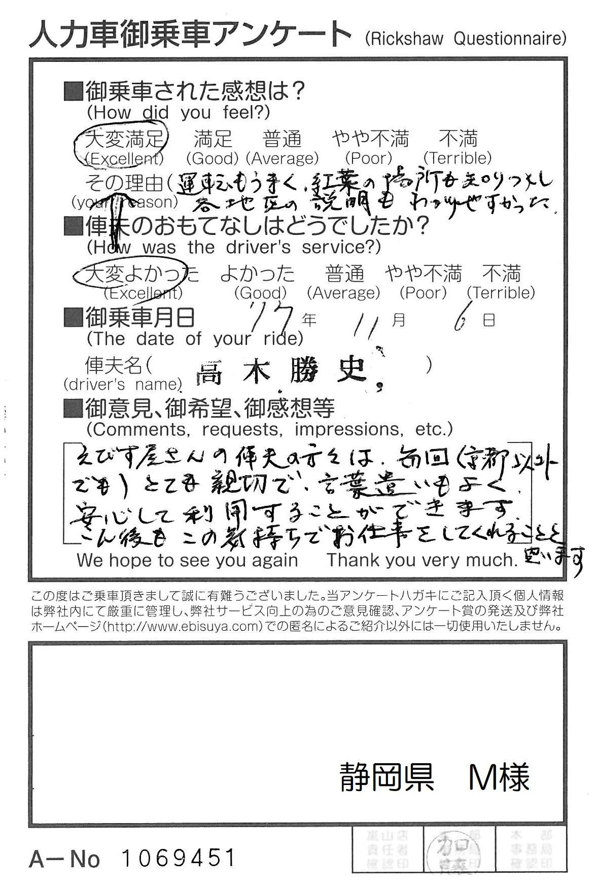 静岡県 M様