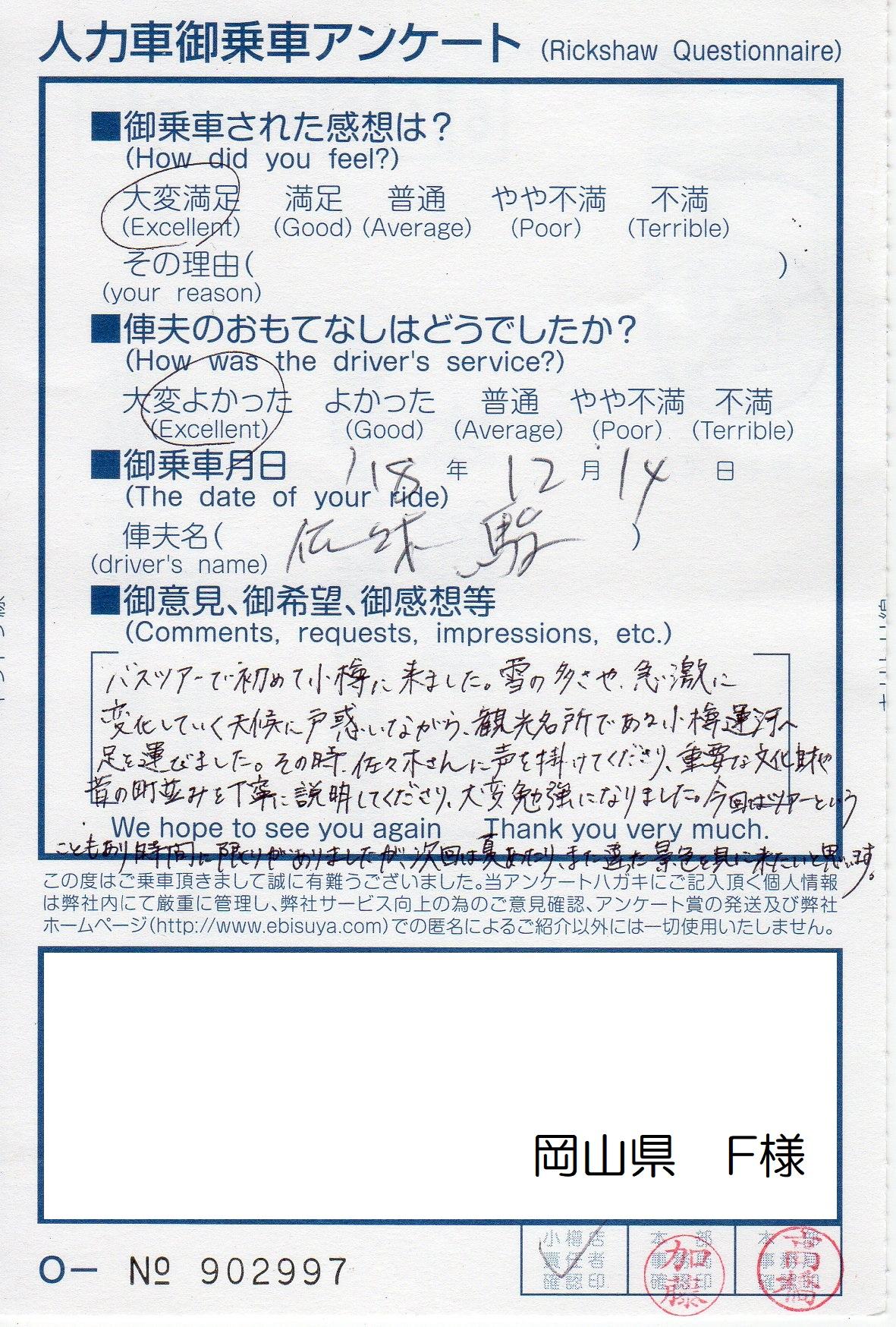 岡山県 F様