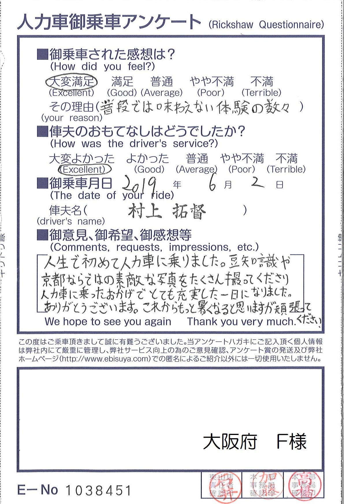 大阪府 F様